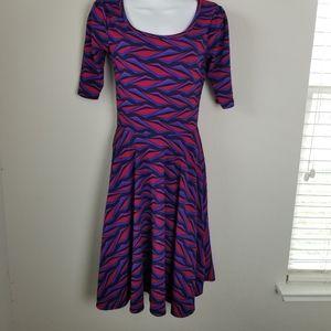 LuLaRoe Nicole purple dress size small